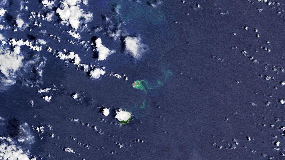 Japón tiene una nueva isla: la NASA observa el momento de su formación en el Pacífico