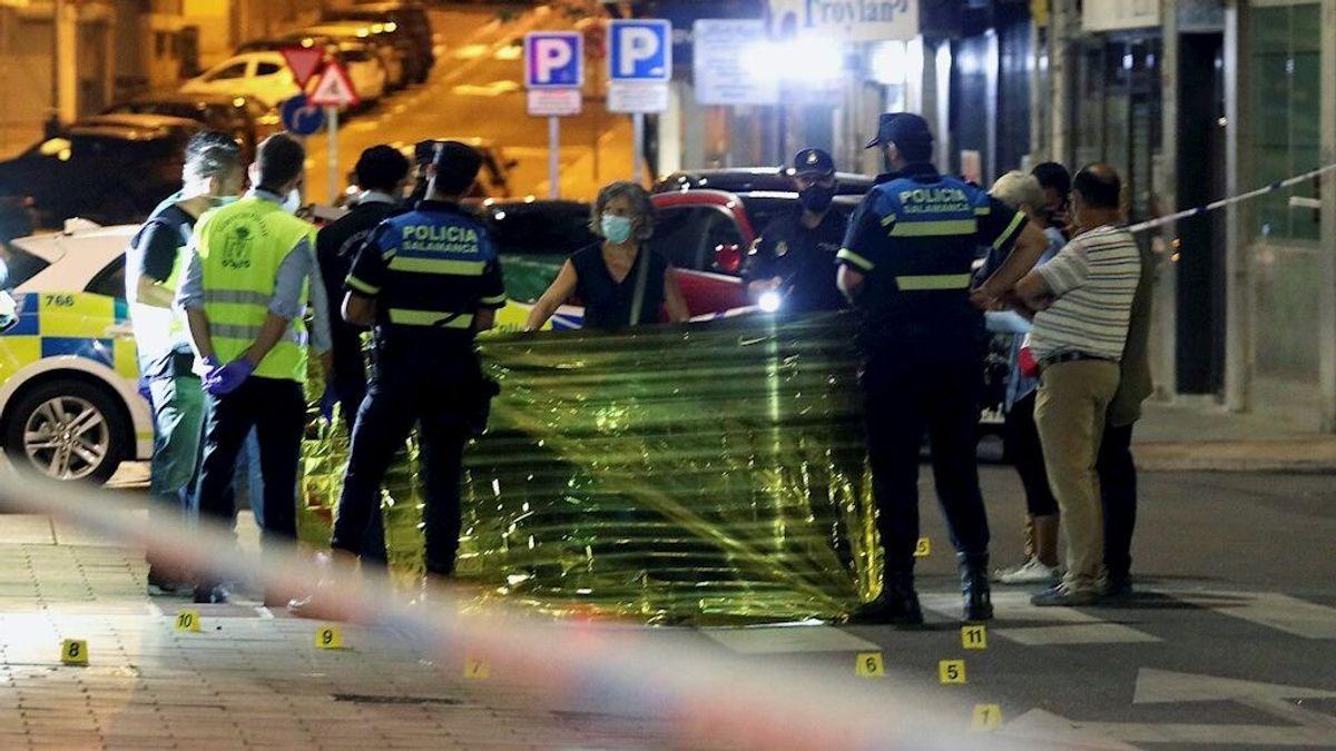 Un hombre muerto y una mujer herida en un tiroteo de madrugada en Salamanca