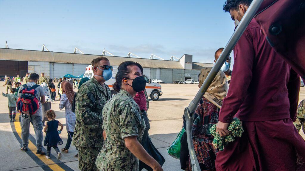 Aterriza un nuevo avión con 220 refugiados afganos en la Base Naval de Rota