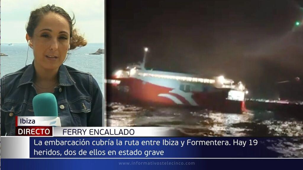 25 heridos, uno de ellos menor y en estado grave, tras el choque de un ferri contra un islote en Ibiza