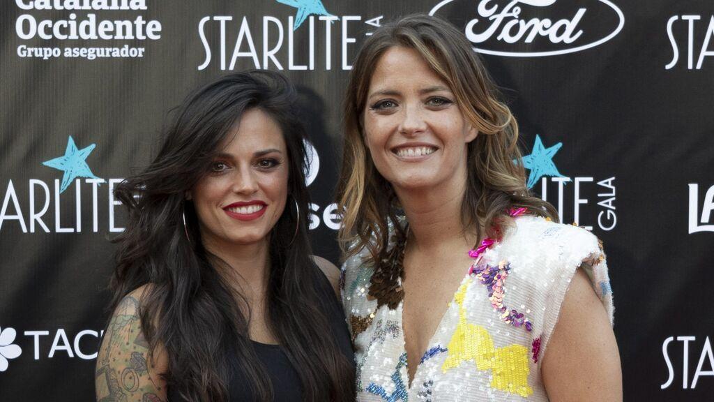 María Casado y su pareja, la cantante Martina, en el Starlite de Marbella