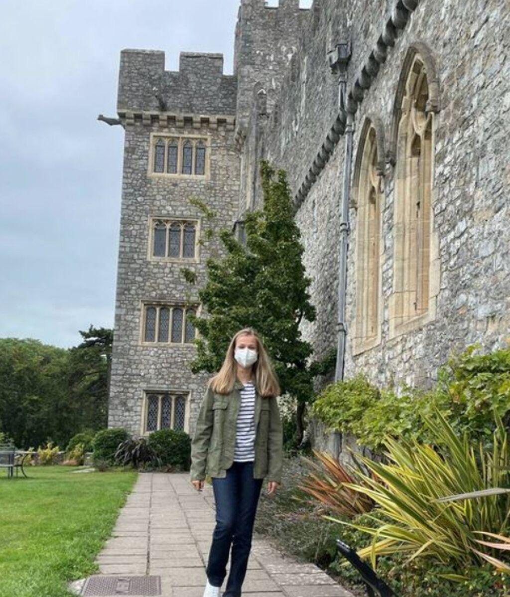 Leonor en su internado en Gales