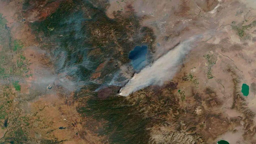 Los incendios de California a vista de satélite