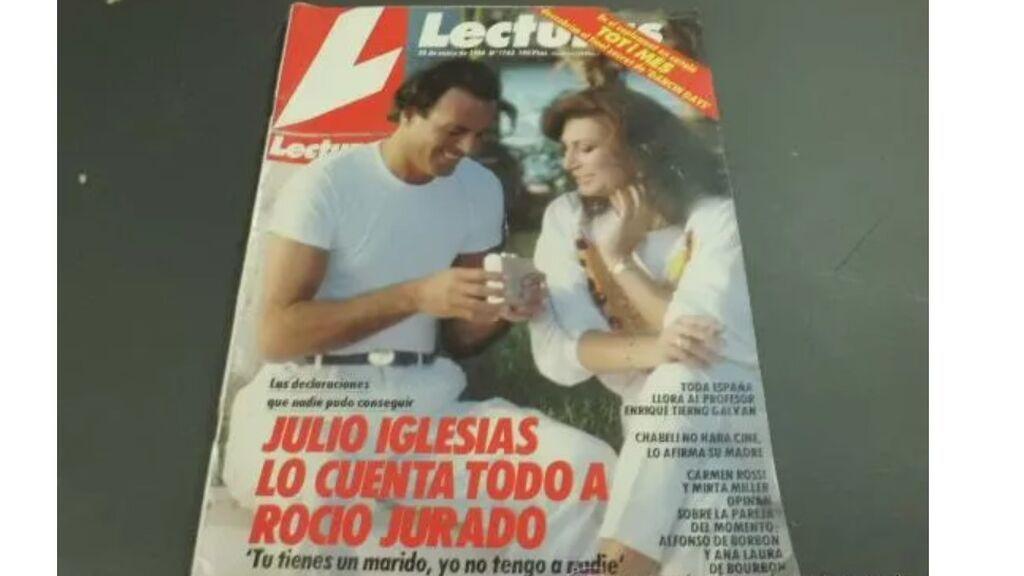 La entrevista de Julio Iglesias a Rocío Jurado en Lecturas