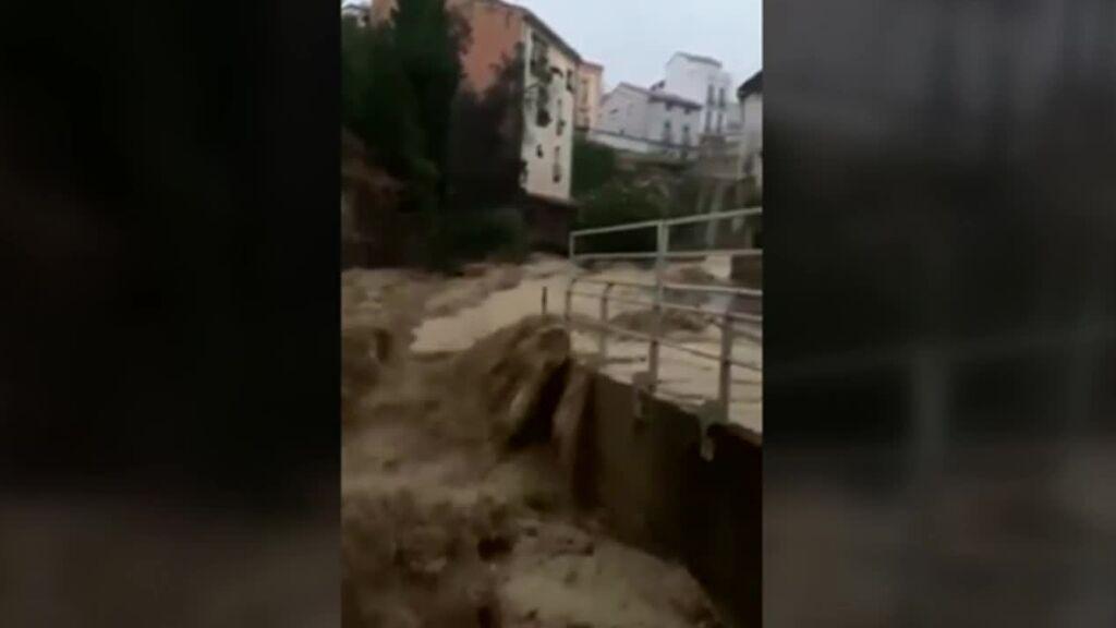 El sur de la Comunidad Foral de Navarra sufre los peores daños por el paso de la DANA