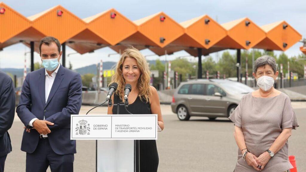 """La ministra Sánchez celebra la liberación de peajes en Cataluña:  """"Eran un agravio comparativo el resto del territorio"""""""