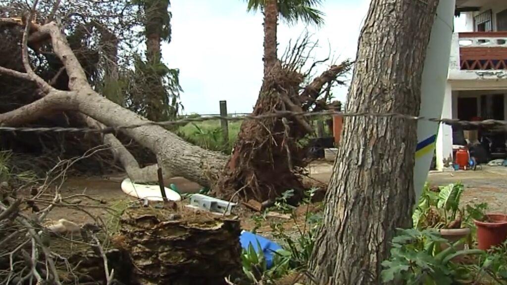 Los destrozos de las lluvias torrenciales en Levante