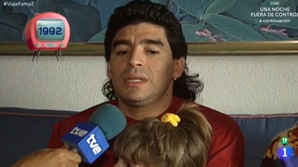 Maradona, en 'Viaje al centro de la tele'