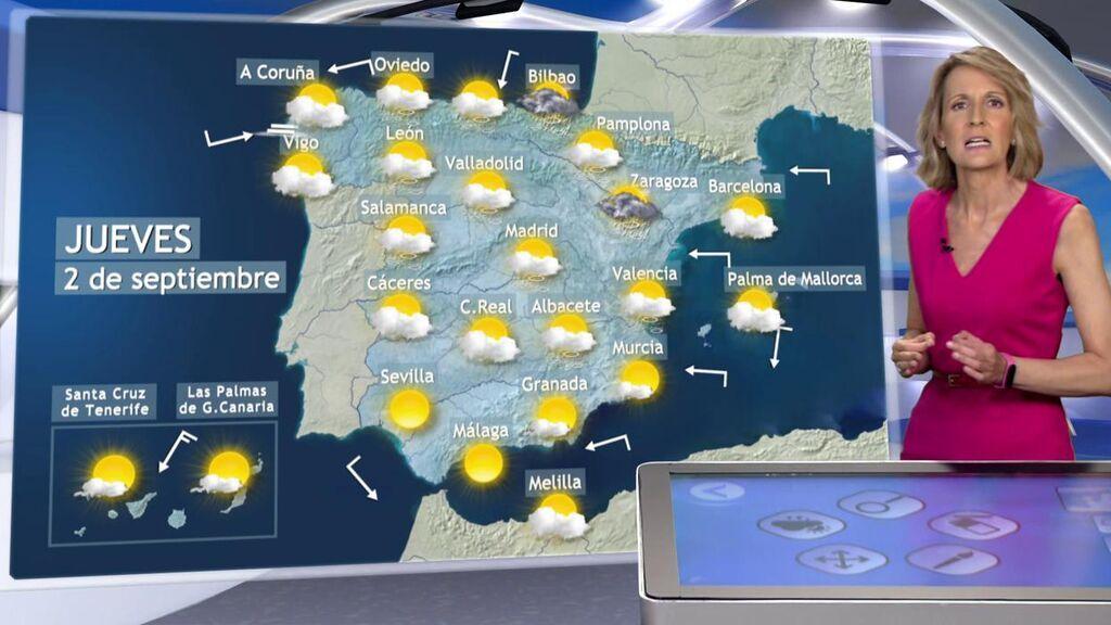 Lluvias torrenciales y granizo grande, también en Baleares: el tiempo para el jueves en España