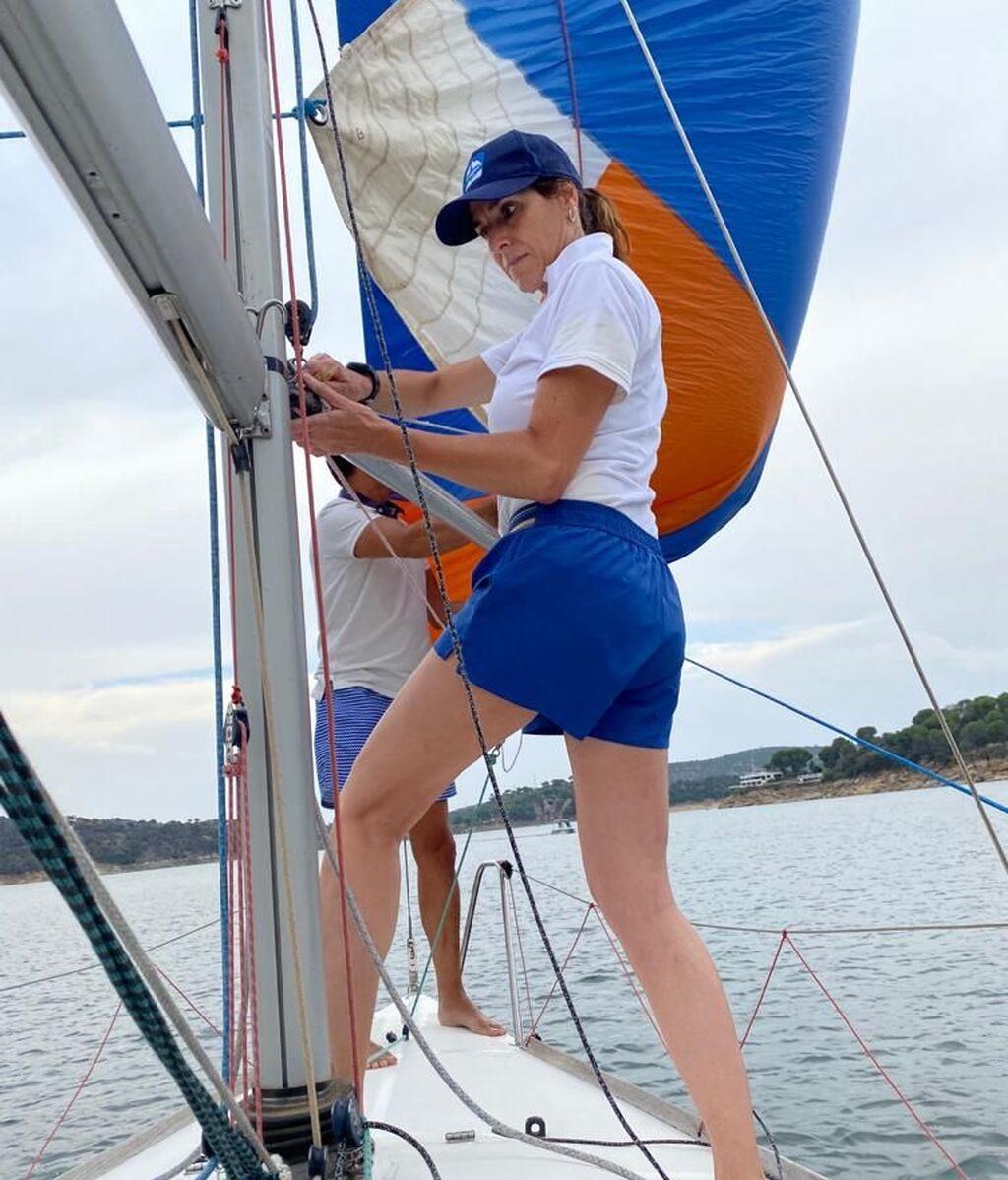 Ana Álvaro, entrenando para el reto