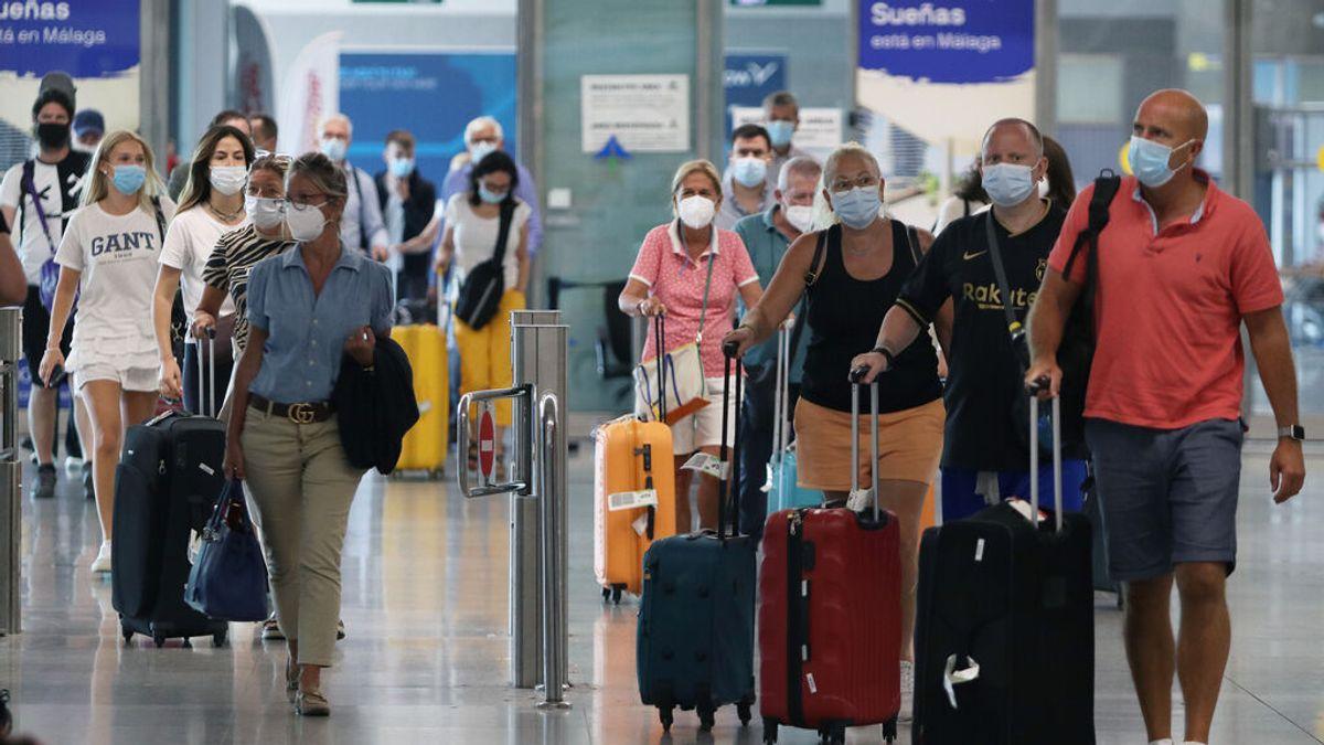 Llegada de viajeros al aeropuerto de Málaga