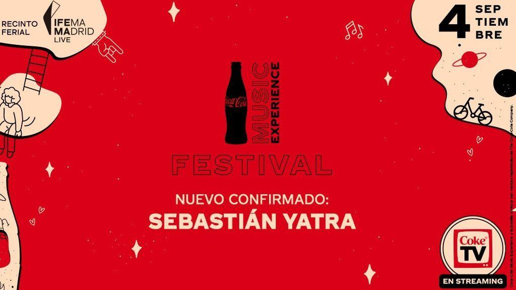 Sebastián Yatra, último artista confirmado en el Festival Coca-Cola Music Experience de este año