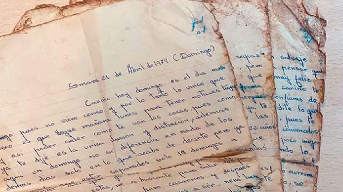 Una carta de amor sobrevive medio siglo y aparece entre la basura en Málaga