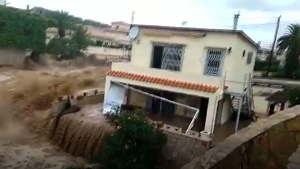 Una casa en un barranco de Vinaroz, el récord de caída de agua en España