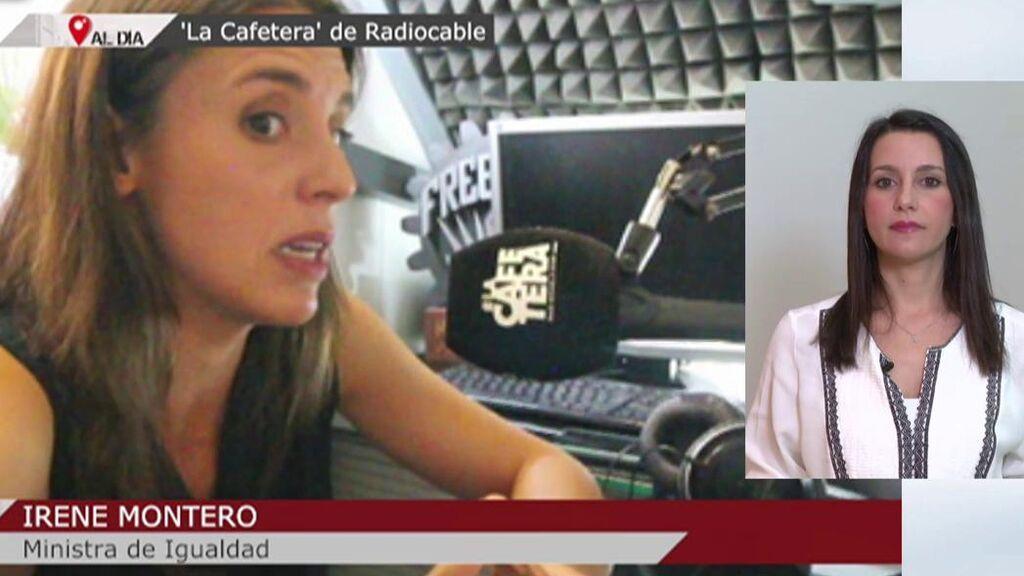 Inés Arrimadas contesta a Montero