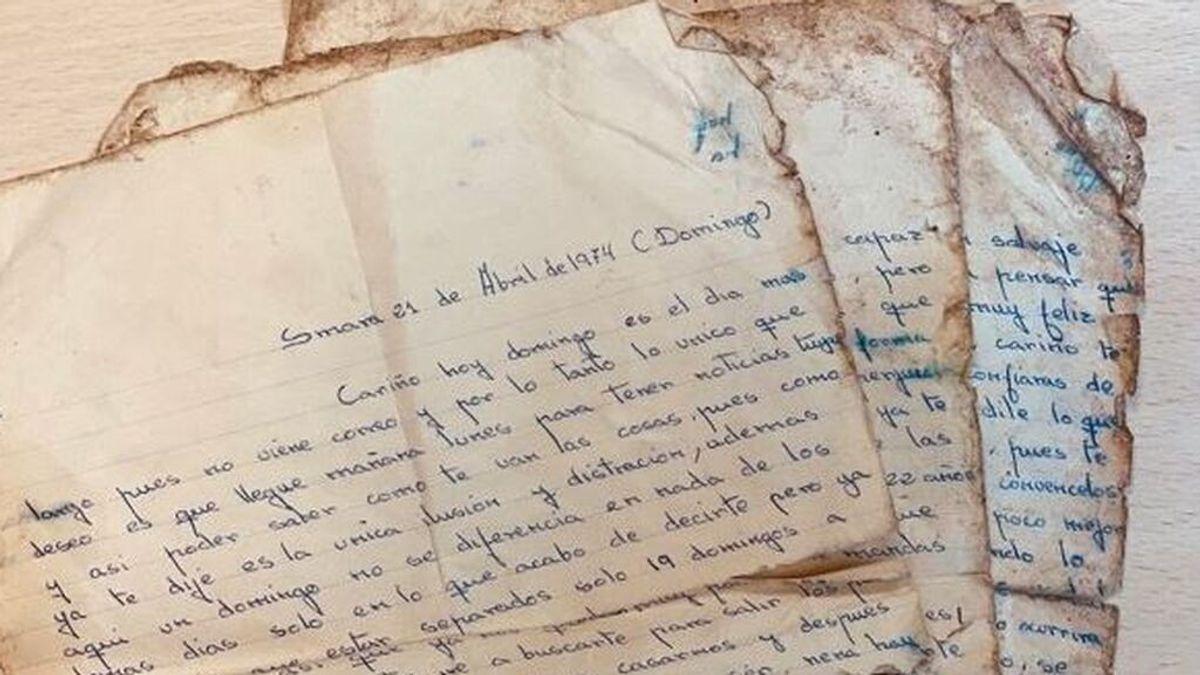"""Una carta de amor sobrevive medio siglo y aparece  en la basura: """"Verás lo felices que vamos a ser"""""""
