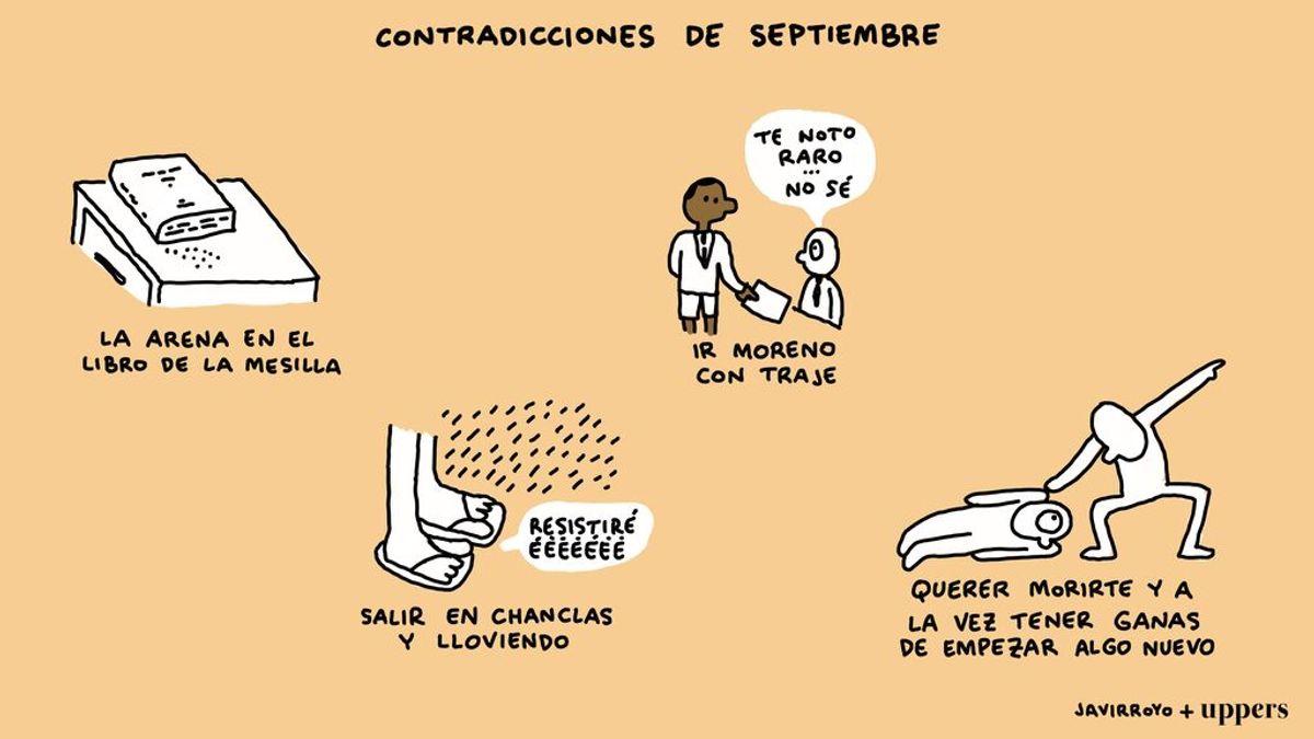 La viñeta de Javirroyo: contradicciones de septiembre