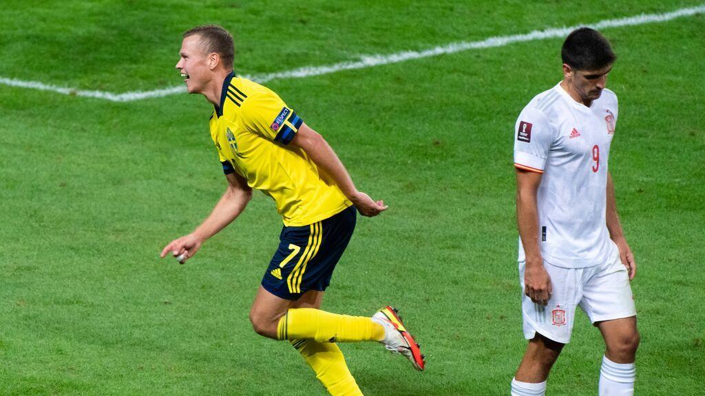 España cae ante Suecia y se complica sus opciones de clasificación para el Mundial de Catar (2-1)