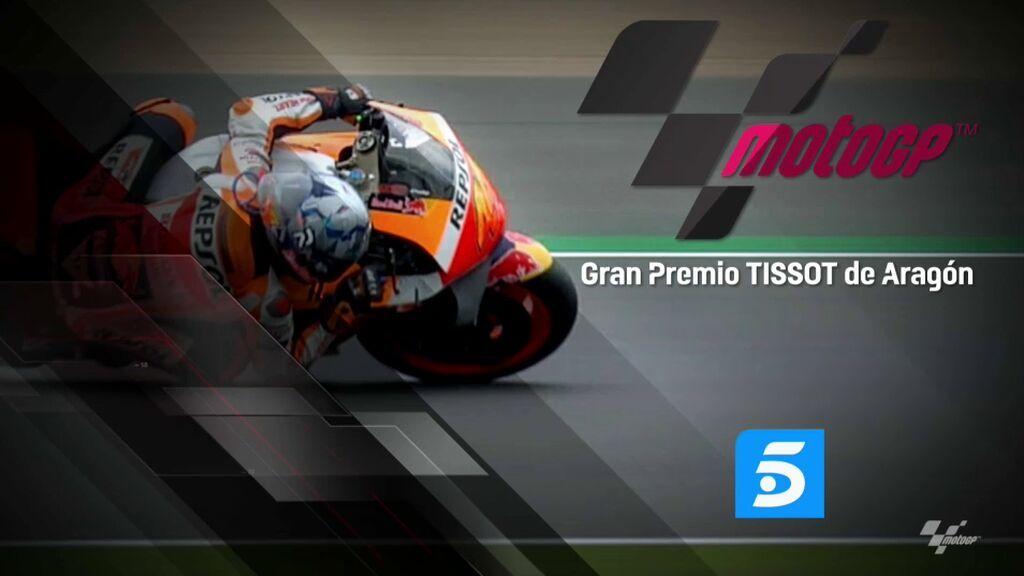 El Gran Premio Tissot de Aragón de MotoGP se podrá ver gratis y el abierto en Telecinco