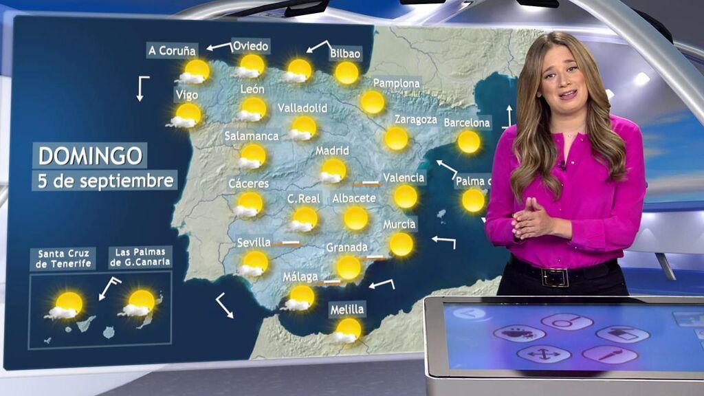 Vuelta al verano: el tiempo para el primer fin de semana de septiembre en España