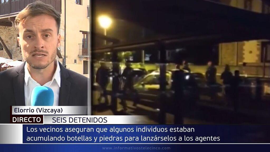Batalla campal en Elorrio, Vizcaya: seis detenidos por cruce de contenedores y lanzamiento de objetos a la Ertzaintza