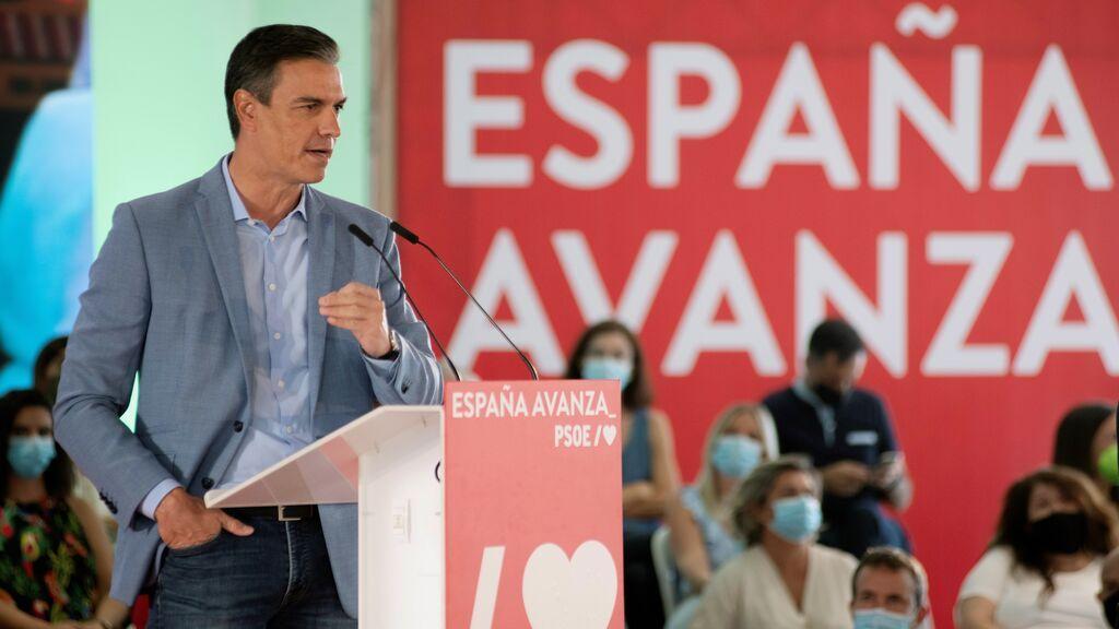 """Pedro Sánchez acusa a la derecha de no celebrar los éxitos y solo saber """"crispar y gritar"""""""