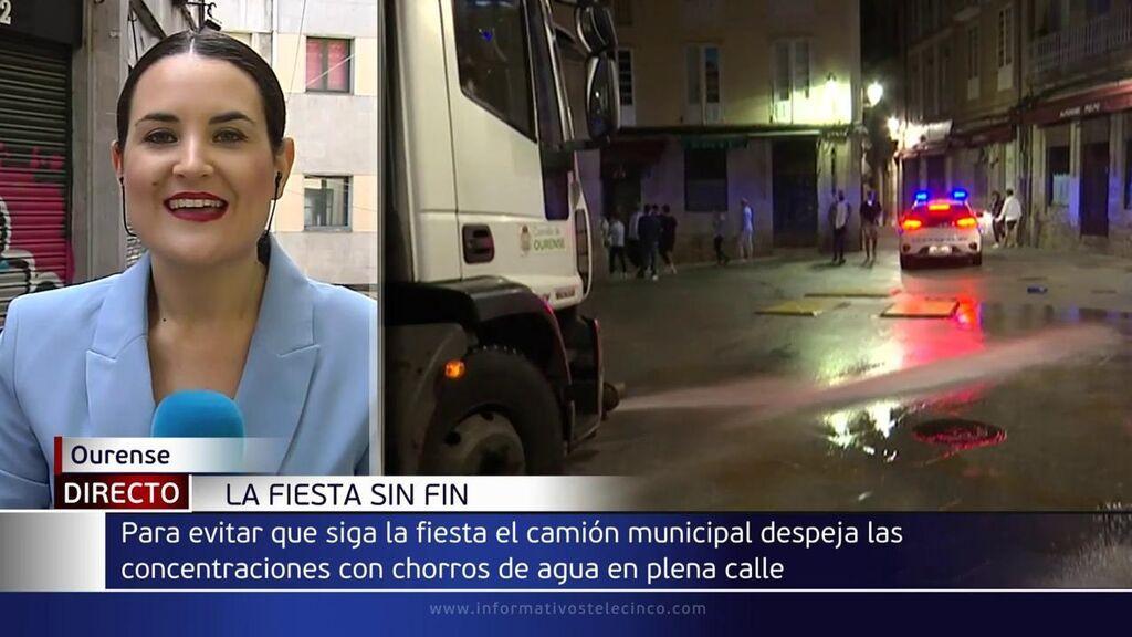 Polémica salida de camiones de limpieza coincidiendo con el fin del toque de queda en Ourense