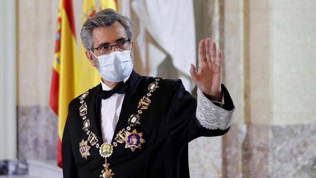El presidente del CGPJ, Carlos Lesmes, en la apertura del Año Judicial