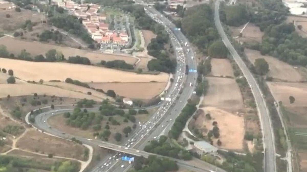 54 kilómetros de retenciones en el primer fin de semana sin peajes en Cataluña
