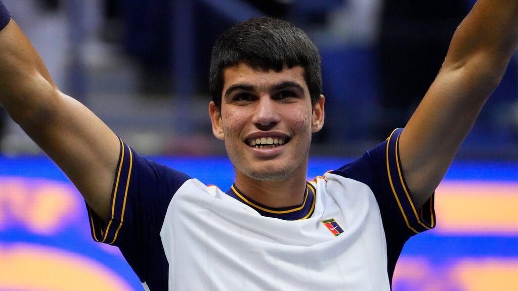 Carlos Alcaraz está entre los ocho mejores del US Open.