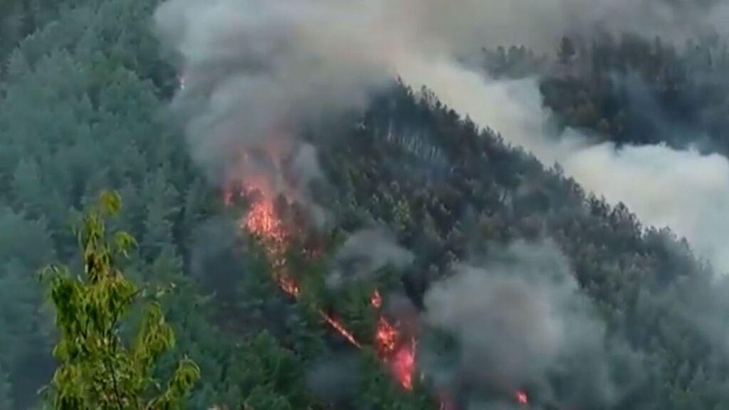 Arde la Ribeira Sacra en el que ya es el peor incendio de 2021 en Galicia