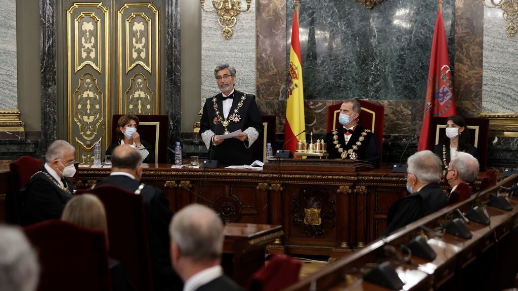 El presidente del CGPJ interviene en la apertura del año judicial en presencia del rey