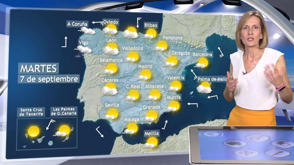 Llega un frente con aire frío y lluvias: el tiempo que hará el martes en España