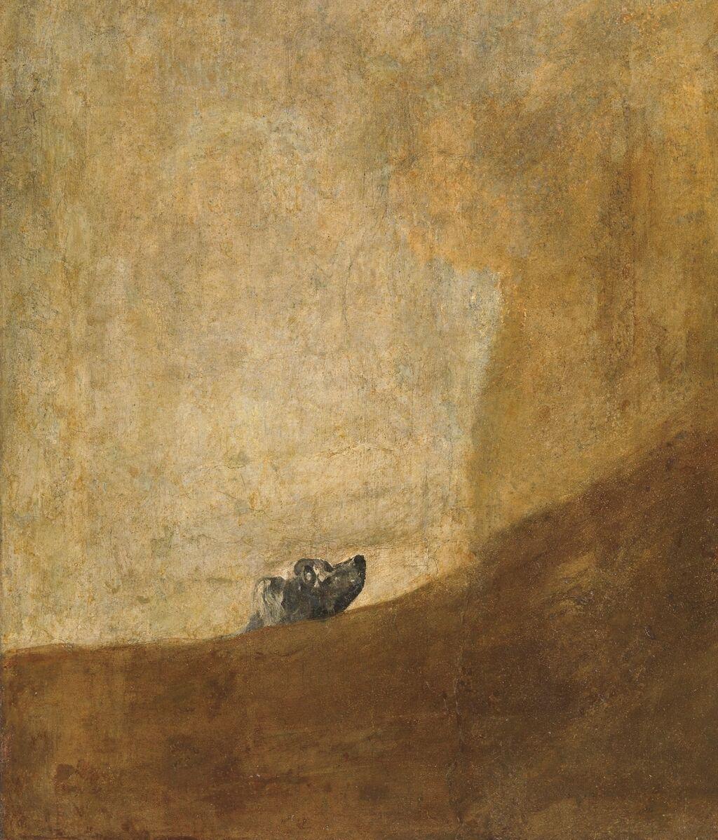 Perro semihundido de Francisco de Goya (1819-1823)