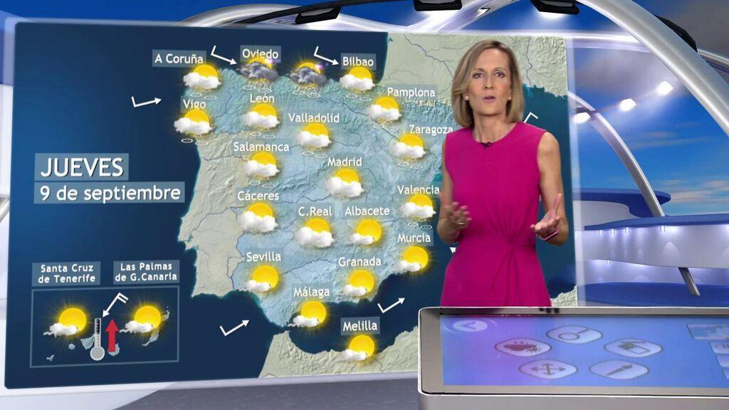 Aviso naranja por tormentas y nuevo descenso térmico: el tiempo para el jueves en España