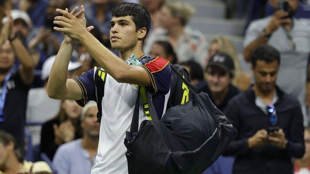 Carlos Alcaraz cae lesionado y dice adiós en los cuartos de final del US Open