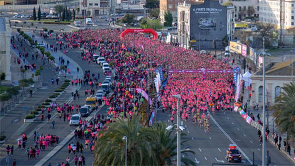 La Carrera de la Mujer vuelve de forma presencial a Valencia con cuatro mil corredoras