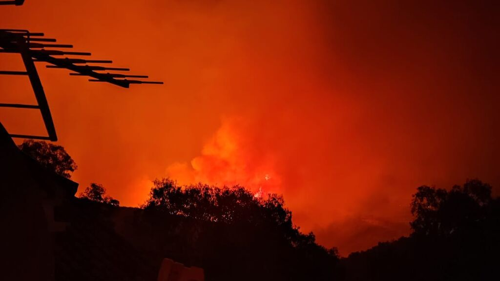 """Francisco, vecino desalojado en Estepona: """"Cogimos al bebé y salimos corriendo, las llamas estaban muy cerca"""""""