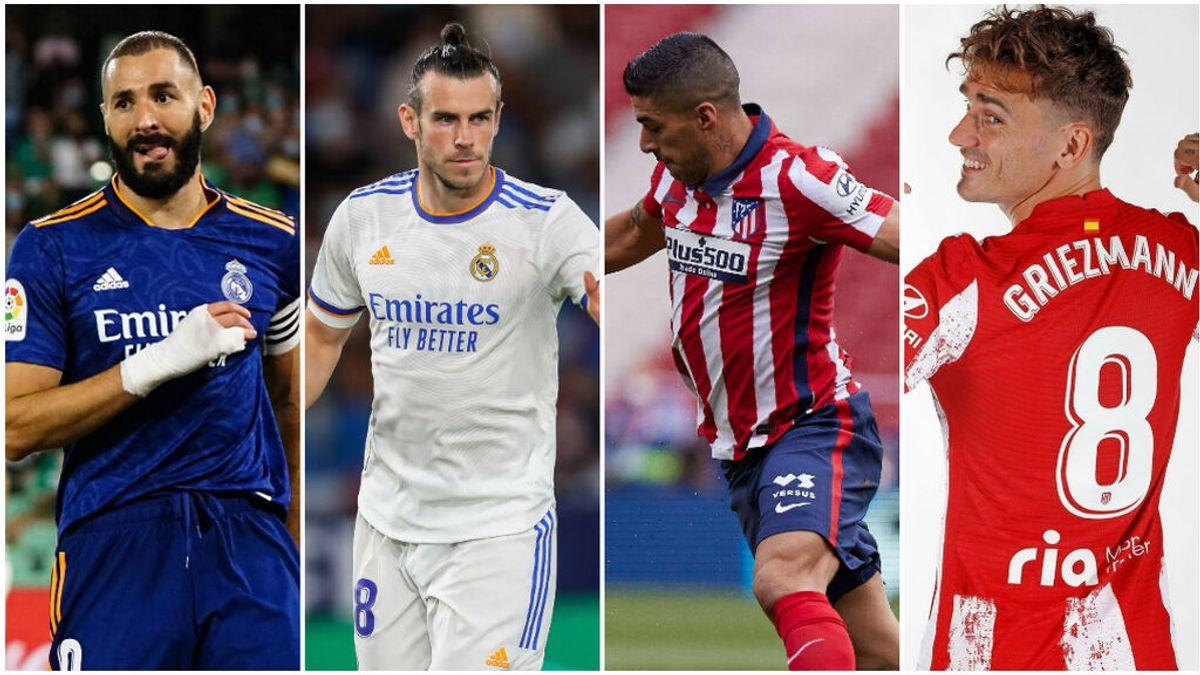 La dupla Benzema-Bale mete miedo: cinco goles más, en nueve partidos menos que Griezmann y Luis Suárez