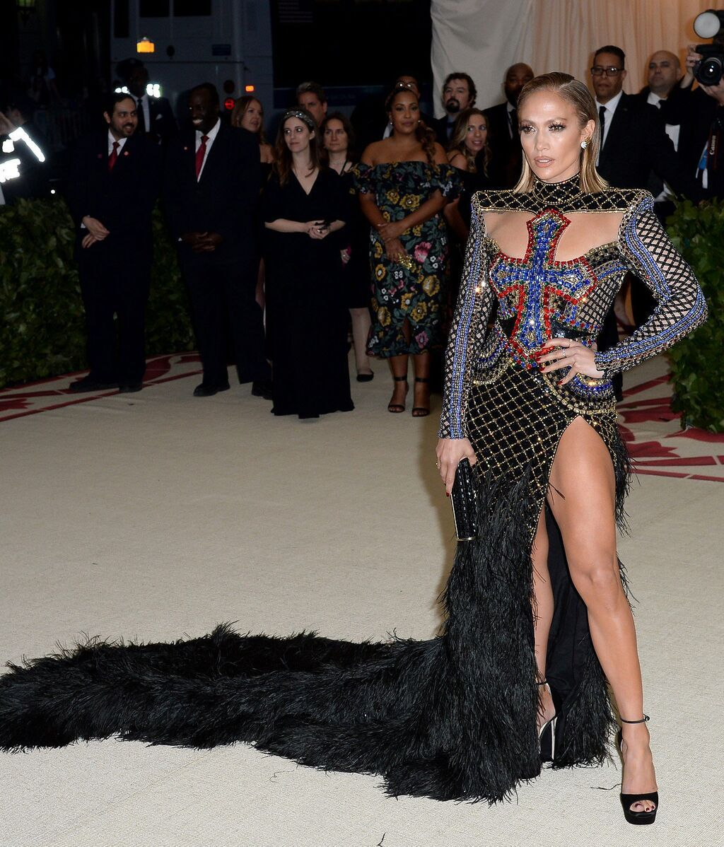 Jennifer Lopez, de Balmain en 2018