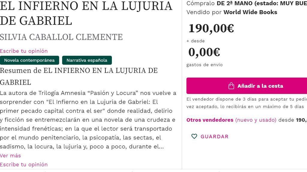 Uno de los libros de Silvia Caballol se vende por 190 euros