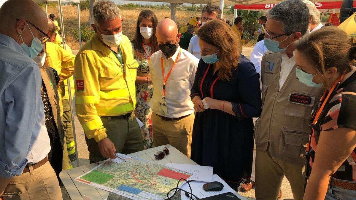 El incendio de Sierra Bermeja registra 2.167 hectáreas de perímetro y son ya 600 los desalojados