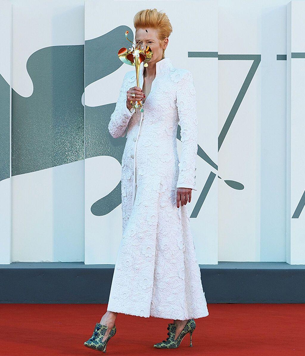 Tilda Swinton, de Chanel en 2020