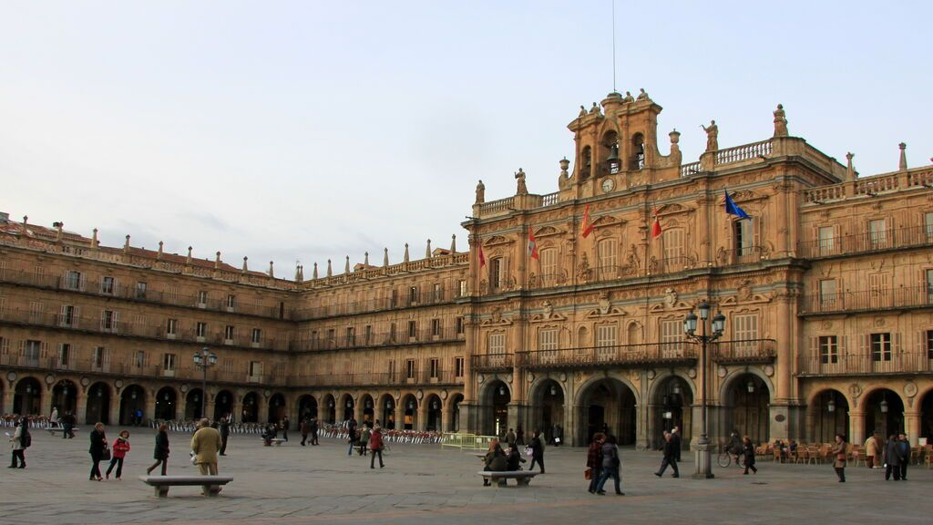 Plaza Mayor de Salamanca, en  Castilla y León.