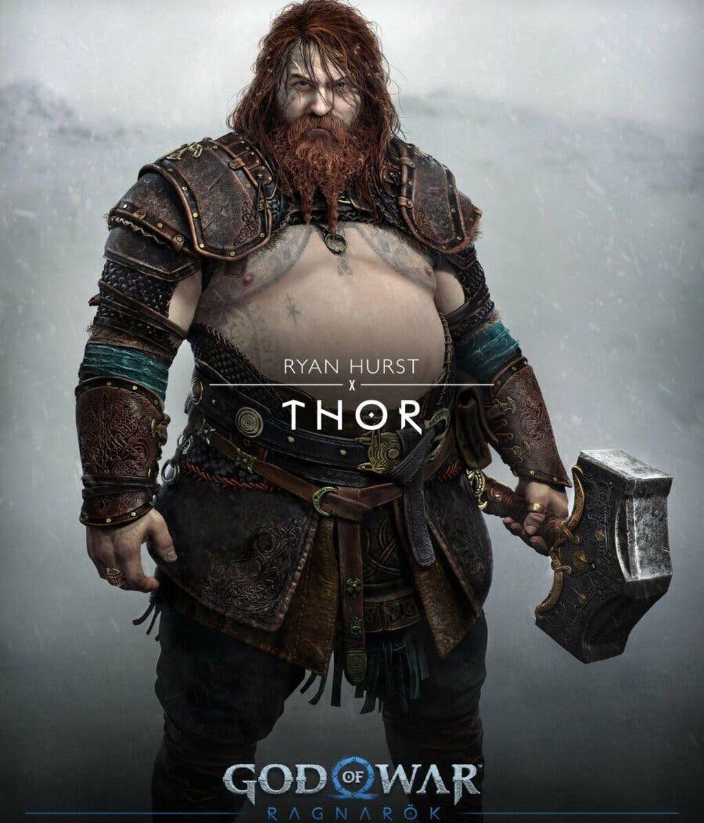 Thor en God of War Ragnarök