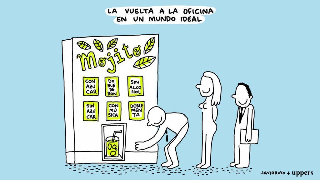 "La viñeta de Javirroyo: ""La vuelta a la oficina en un mundo ideal"""