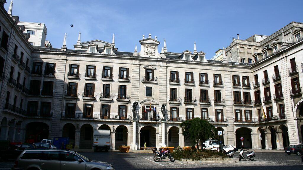 Plaza Porticada, en Santander.