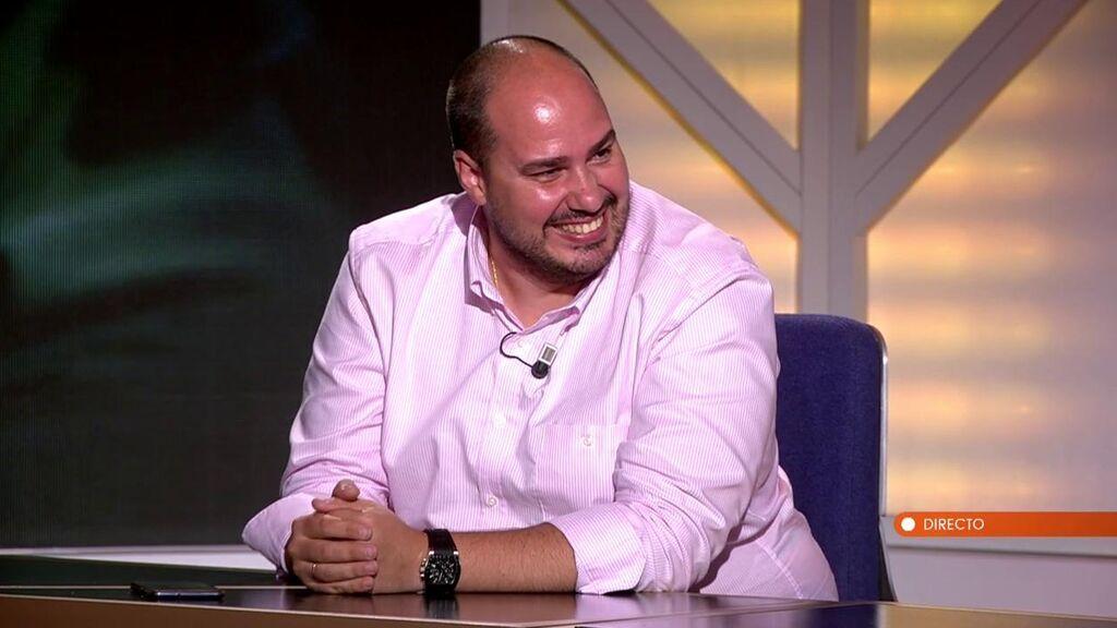 Antonio Pampliega, en el plató de 'Horizonte'