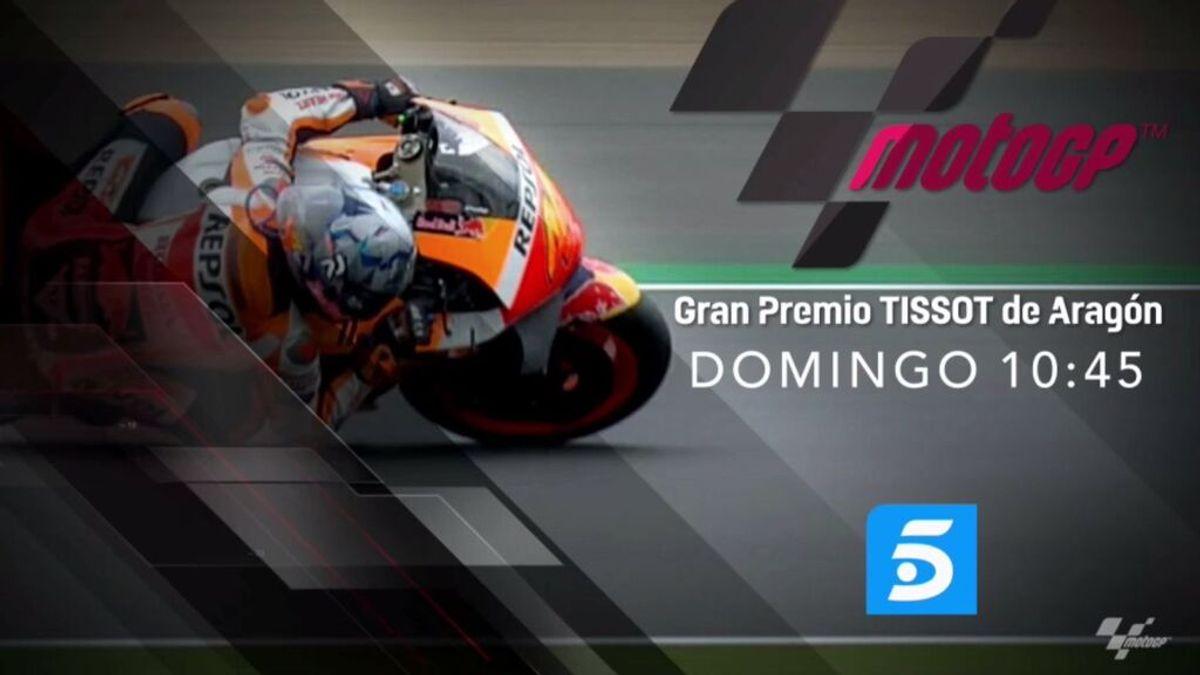 Telecinco ofrece una entrevista con Marc Márquez en el Previo del Gran Premio Tissot de Aragón de Moto GP