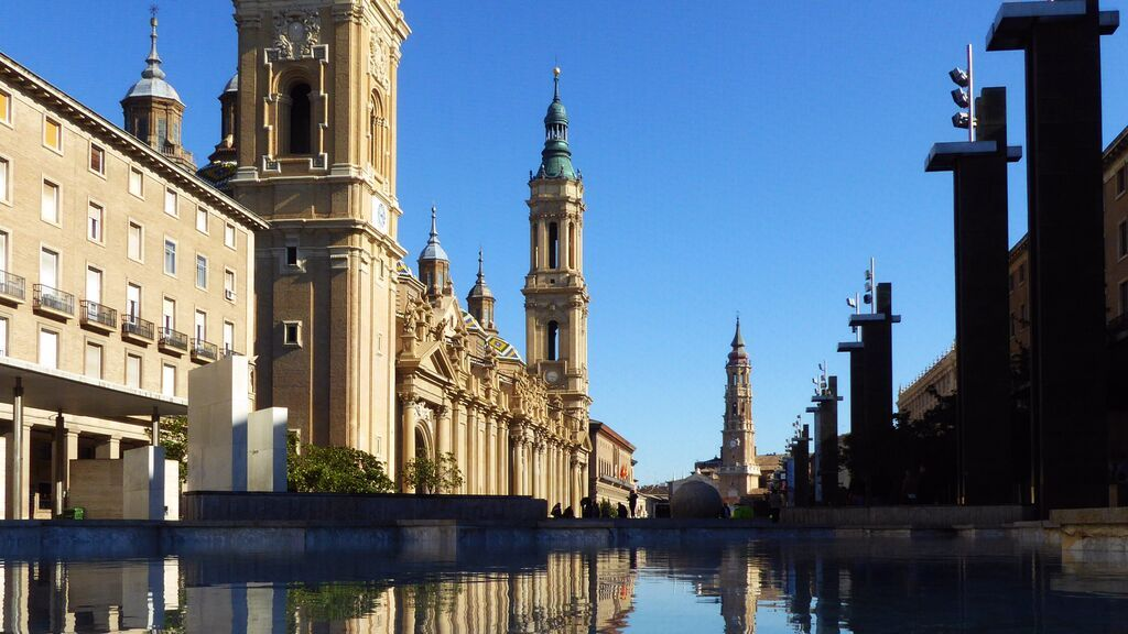 Plaza del Pilar, en Zaragoza.